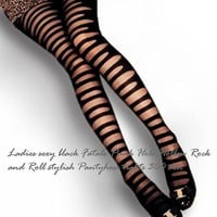 Fatale Punk Hole Hollow Rock and Roll stylish Pantyhose tights on LoLoBu