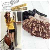 Korean Style Butter Cake Ruffled Skirt