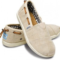 Natural Burlap Bimini Youth Classics | TOMS.com