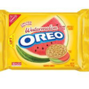 Nabisco Oreo Limited Edition Watermelon Flavored Golden Cookies (Pack of 4): Amazon.com: Grocery & Gourmet Food