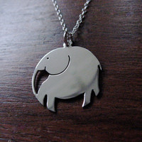 Elephant Pendant Necklace by GorjessJewellery on Etsy