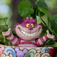 Jim Shore Disney Cheshire Cat Adornment Pot Planter Cachepot Stick Stake 4027155