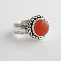 jewels2luv — Rose Cut Carnelian Ring