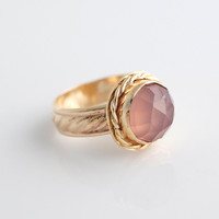 jewels2luv — Rose Cut Pink Chalcedony Ring