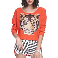 Rehab Tiger Sequin Sweater at PacSun.com