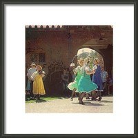 #morrisdancers #today @ #powiscastle Framed Print By Alexandra Cook