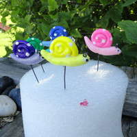 set of 12 fairy snails in your choice of colors great for terrariums planters weddings birthdays handmade