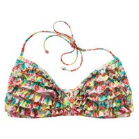 Xhilaration® Junior's Bandeau Swim Top -Floral Print