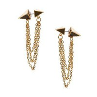 Designsix Godwin Spike And Chain Drop Earrings