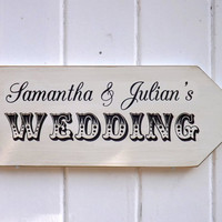 Personalized Name Wedding Directional Sign