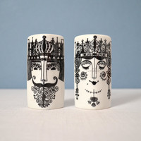 Vintage Scandinavian King and Queen Shakers