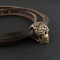 Day of the Dead Sugar Skull Bracelet