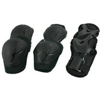 Amazon.com: Como 3 Sets Skating Gear Knee Elbow Wrist Support Black Pads for Child: Sports & Outdoors