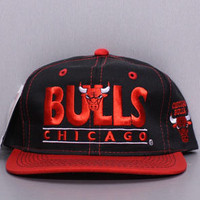 Karmaloop.com - Global Concrete Culture - Chicago Bulls Snapback Hat by Vintage Deadstock
