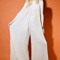 Shop Vintage | 70s Gauze Palazzo Jumpsuit + Jacket | Thrifted & Modern
