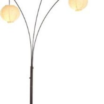 Adesso 4101 26 spheres arc 3 light floor from amazon for Paper floor lamp amazon