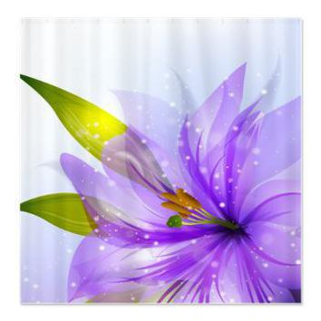 sheer purple flower shower curtain from cafepress awesome