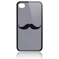 Busted Tees iPhone4/4S Art Case-Mustache