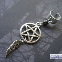 Supernatural Angel Ear Cuff in Hematite