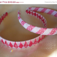 Summer Clearance Light and Bright Handmade woven headbands, Pinks, Green, yellow, purple woven ribbon headbands, womens headband, girls hea