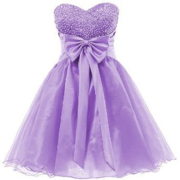 Dresstells Sweetheart Organza Short Prom Cocktail Patry Dress for Girls Sweet 16