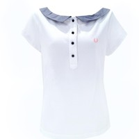 Fred Perry Amy Winehouse 50's Neck Shirt Dames Tops at Broken Cherry