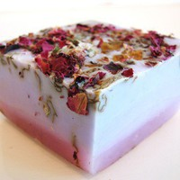 Lilac Rose Vegan Handmade Soap, made with real roses, lilac and cocon | DeShawnMarie - on ArtFire