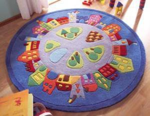 The Well Appointed House by Melissa Hawks. Little Town Child's Area Rug