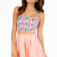 Adjustable Lush Tribal Bustier $37