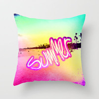 Summer Dreams Throw Pillow by M Studio