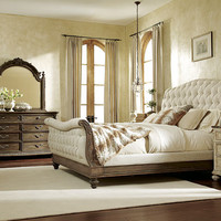 Jessica McClintock Baroque Queen Sleigh Bed