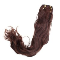 "Yesurprise 18"" #4 100g Natural Wave Wavy Curly Real Human Hair Weaving Weft Extension:Amazon:Beauty"