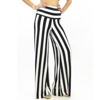 Sound The Alarm High Waist Jail Striped Hippie Palazzo Pants