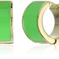 "Kate Spade New York ""Bar None"" Green Huggies Earrings"