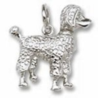 Poodle Charm - 14k Yellow Gold