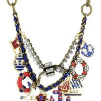 "Betsey Johnson ""Spectator"" Multi-Anchor Frontal Statement Necklace"