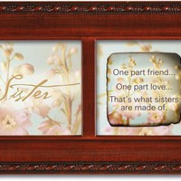 Cottage Garden Sister Petite Woodgrain Music Box Plays Thats What Friends Are For