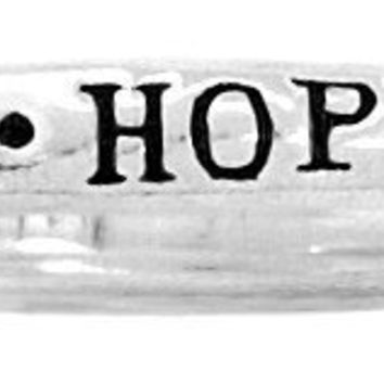 "Bob Siemon Sterling Silver ""Hope"" Ring, Size 8"