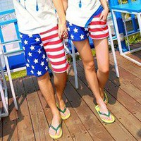 The American flag leisure lovers beach pants