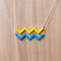 Brevity. Ocean necklace.