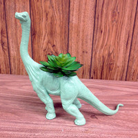 Huge OOAK Recycled Dinosaur Planter