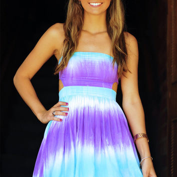 It's Meant To Be Dress: Tie Dye Purple | Hope's
