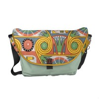 Vintage Pastel Egyptian Geometric Graphic Pattern Courier Bags from Zazzle.com