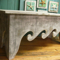Bench Seat Coffee Table Waves Beach House Chair Assemble Yourself Beach House Decor