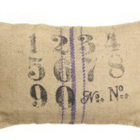 Numbers on Jute Pillow