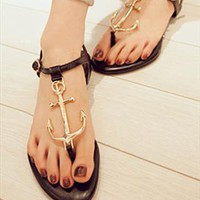 Black Metal Sandals from BAIANSY
