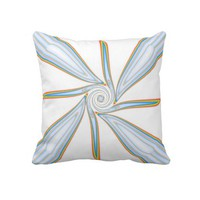 Diamond Rainbow Twirl Sofa Pillow from Zazzle.com