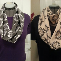 Supernatural infinity KNIT scarf - made to order