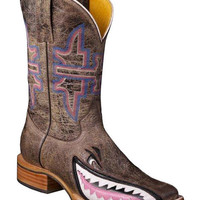Tin Haul Man Eater Shark Cowgirl Boots - Square Toe - Sheplers