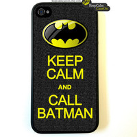 Iphone 4 Case Keep Calm And Call Batman iPhone by KeepCalmCaseOn